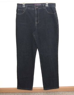 Gloria Vanderbilt AMANDA Denim Jeans Womens 14 Average Stretch Dark Blue
