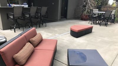 Love Seat couch and half circle sitting