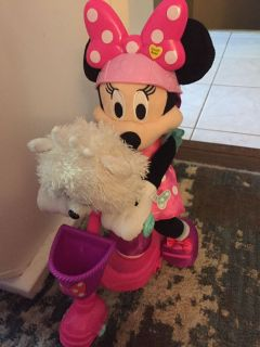 Minnie on a Scooter