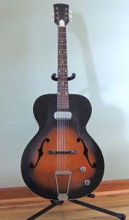 1960 s vintage Silvertone Electric Archtop Guitar Model N-12, made by Kay.
