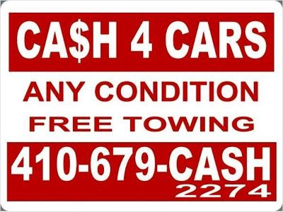 Cash for cars Maryland 410-679-2274