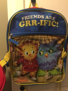 Daniel Tiger backpack and lunchbox