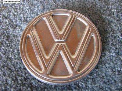 Original NOS Solid VW Hood Ornament