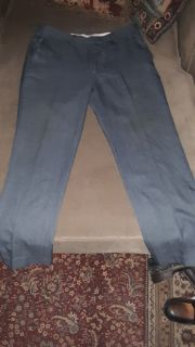 "Men's size 34"" × 30"" Gray Louis Rachael Tailored Dress Pants"