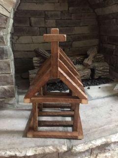 Unique wooden church** candle holder** decor Hand crafted. Very sturdy