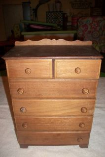 Vintage Small Solid Wood Chest of Drawers