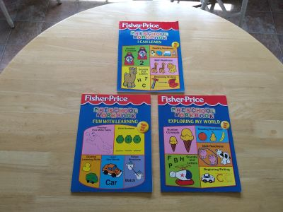 3 new Fisher-Price preschool workbooks