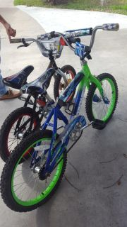 2 bikes one mega force other ozone 500 for boys