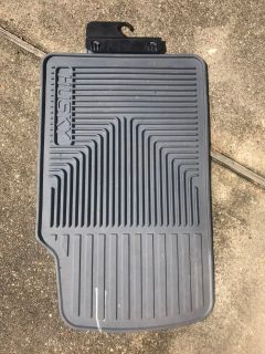 Dark grey car floor mat