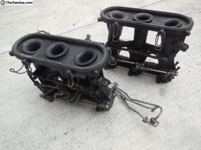 Porsche 911 MFI Throttle Bodies With Intake Pipes