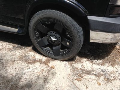 Tires with black rims
