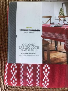60x120 Tablecloth - brand new in pkg