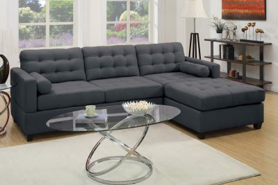 SLATE BLACK SECTIONAL FREE DELIVERY