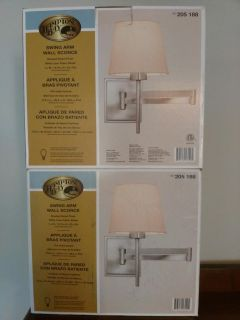 Two New Swing Arm Wall Sconces