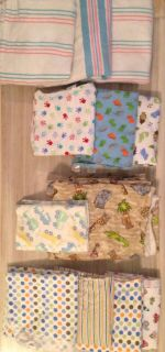 Click for full pic - 11 blankets and 1 burp cloth - all for $10