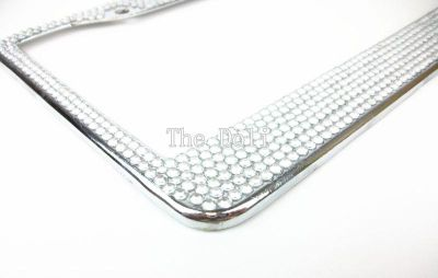 Buy Clear Bling Bling Crystal Rhinestone Handmade U.S. License Plate Frame motorcycle in El Monte, California, US, for US $17.99