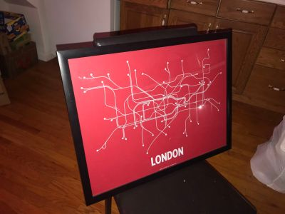 NYC & London subway map art frame
