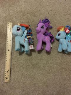 Lot of (3) my little pony plush toy