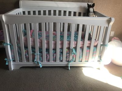 Baby bed and changing table