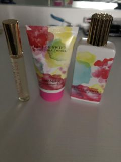 Taylor Swift perfume and lotion