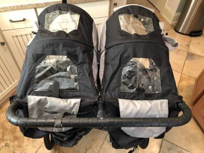 Excellent condition- baby jogger double stroller ( this is a legit jogger !) summit x3 with accessories