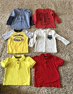 6 Size 18 Months Tops for $15