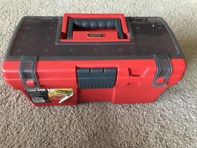 NEW 16 Keter Toolbox with Small Parts Organizer