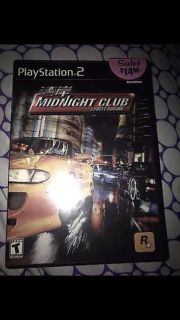 PS2 midnight club racing game