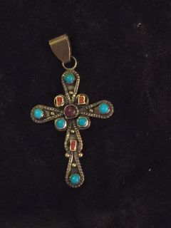 Turquoise Cross signed by artist.
