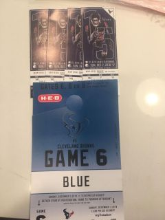 Texans vs Browns tickets 2 tix & parking pass (have 2 pairs)