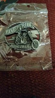 New LIVE TO RIDE BELT BUCKLE