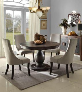 $719, H2466 Dandelion Dining Table and 4 Chairs by Homelegance