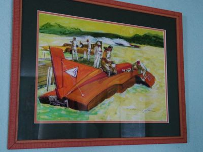 Local Artist Marshall Johnson Hydroplane Print ~ Framed!!