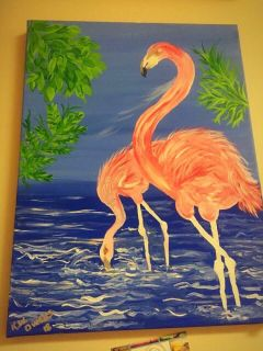 Pink Flamingo by local Artist