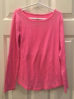 Adorable Soft Long Sleeve Sparkly Top! JUSTICE brand Girl s SZ 10 Great Condition!