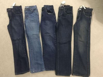 Set of 5 brand new with tags boy jean pants size 10 slim