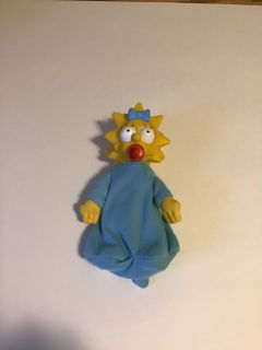 Vintage 1990 simpsons maggie figure doll