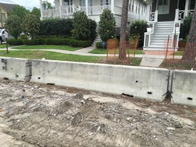 15' Long Highway Rated Concrete Jersey Barriers 6600LBS Each