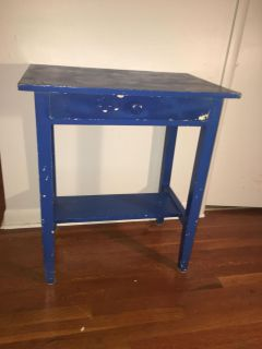Small solid wood desk/table