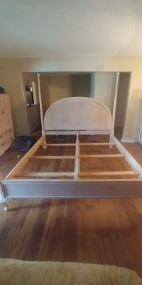 Solid wood king size poster bed frame