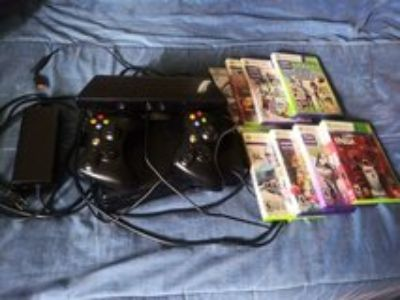 Xbox 360 Kinect with controllers