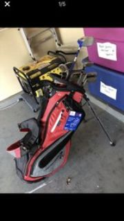 Golf clubs with new bag