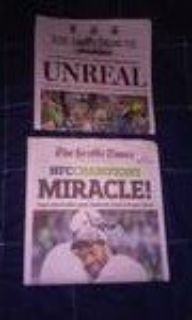 "*** TWO 2015 NFC Championship Newspapers - Seattle Times ""MIRACLE"" and The TNT ""UNREAL"""
