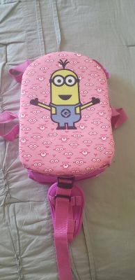 Girl's minion life jacket, size m/l (33-55lbs), $2