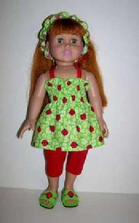 Doll Sundress, Capri pants, Headband and Sandals for 18 inch doll such as Americ