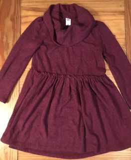 4t Old Navy burgundy knit dress-very light and soft material vvguc