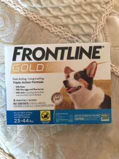 Frontline Gold for dogs 23-44 lbs.