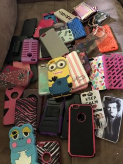 Huge lot of phone cases - porch pick up - fit iPhone but not sure which iPhone (iPhone 4, 4s, 5 or 6S)
