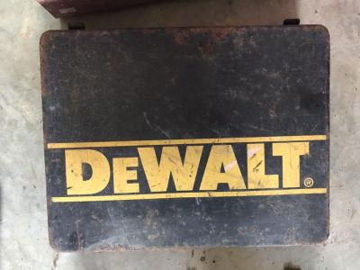 Vintage metal drill boxes