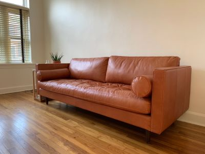 Briar Leather Sofa - JoyBird